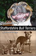 Cover of Steve Stone's book - Celebrating the Staffordshire Bull Terrier jpg