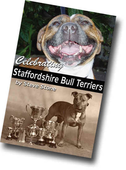 Celebrating Staffordshire Bull Terriers book cover.